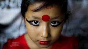 photo essay a day in the life of a kumari newly appointed living goddess in patan