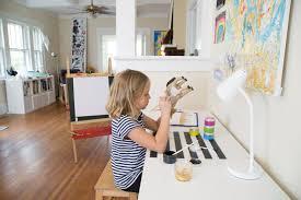 using a children s art desk