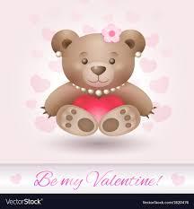 beautiful teddy bear in love