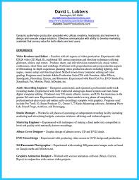 Video Production Specialist Sample Resume It is important to arrange a representative audio engineer resume 36