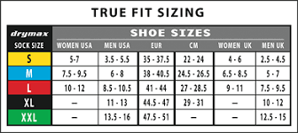 Brooks Size Chart Shoe And Sock Size Chart Brooks Socks Size Chart Inov 8 Size