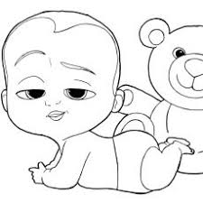 Neoteric Design Boss Baby Coloring Pages Free Printable For Kids The