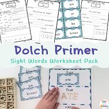 dolch primer dolch primer sight words worksheets fun with mama
