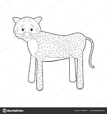 Facile Colorare Disegni Animali Bambini Piccoli Ghepardo