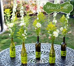 DIY Wedding Centerpieces On A Budget | Simple DIY Flower in Wine Bottle  Centerpieces | Budget