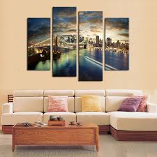 canvas painting 4 pcs no frame tall bridge painting canvas wall art picture home on framed canvas wall prints with canvas painting 4 pcs no frame tall bridge painting canvas wall art