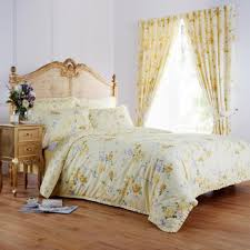 perfect yellow bedding set ideas for country home