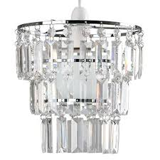 3 tier ceiling pendant light shade acrylic droplet chandelier easy fit lighting