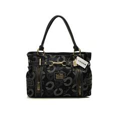 Coach In Monogram Medium Black Totes DND