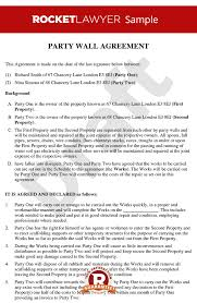 Mutual Agreement Contract Template Interesting Party Wall Agreement Create A Party Wall Agreement Template