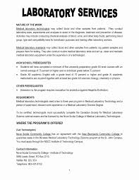 Example Of Resume For Medical Laboratory Technologist Medical Lab Technician Resume Format Awesome Medical Laboratory 19