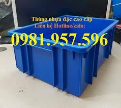 Khay linh kiện, thùng nhựa đặc đựng chi tiết sản phẩm, thùng nhựa công nghiệp