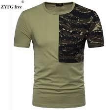 Eu/Us Size New Arrivals Short Sleeved T Shirt Male Summer Camo ...