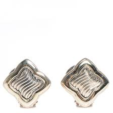 david yurman sterling silver 14k gold quatrefoil earrings 90711