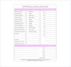 Party Planning Templates Kids Birthday Template R Checklist