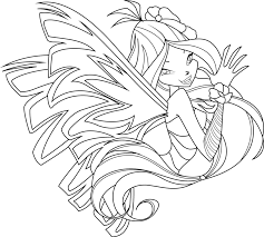 Winx Sirenix Roxy Coloring Pages