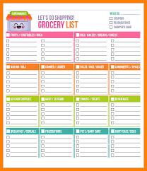 5+ Grocery Shopping Lists Template | Management-On-Call