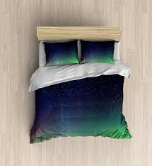galaxy bedding incredible northern lights duvet cover colorful bedding set amazing space duvet