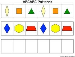 Abc Pattern Inspiration Pattern Block Mats And Linking Cube Mats For Practicing Making