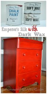 painted red furniture. Dresser- Emperors Silk-collage Painted Red Furniture