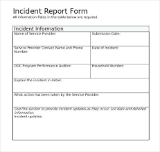 Accident Report Template Word template Incident Forms Template Accident Report Templates 30