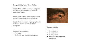 today s writing task three wishes ppt video online today s writing task three wishes