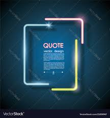 Lighting Frames Set Neon Chat Bubbles Or Quote Frames Lighting