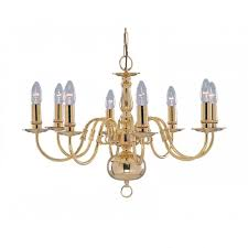 chandelier with metal candle covers searchlight 1019 8pb flemish 8 light ceiling light solid polished brass