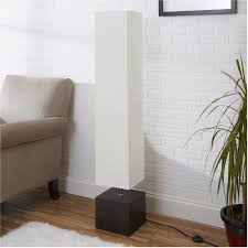 Mainstays White Rice Paper Floor Lamp With Dark Wood Base Walmartcom