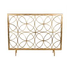 Unique fireplace screens Ideas Antique Gold Circles Fireplace Screen Bellacor Fireplace Screens Accessories Bellacor