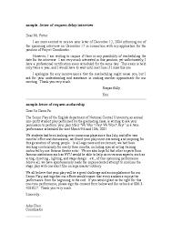 Sample Letter Of Request Delay Interview Humayun Kabir Academia Edu