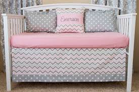 image of stylish chevron baby bedding