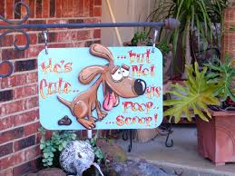 Decorative Yard Signs Decorative NO POOP Yard Signs On Etsy 1100100 DOGS RULE 4