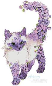 Cat Cross Stitch Patterns Amazing Lilac Cat Cross Stitch Pattern cats