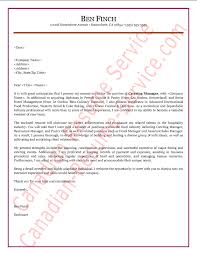 Hospitality Manager Cover Letter Sample Example