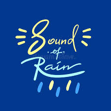 Ba Quote Amazing Sound Of Rain Simple Inspire And Motivational Quote Hand Drawn