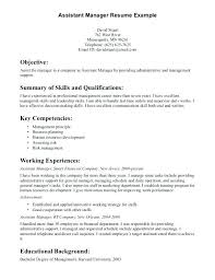 Department Store Manager Resumes Retail Store Manager Sample Resume Assistant Manager Sample Resume