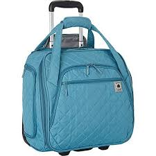 Quilted Luggage: Amazon.com & Delsey Quilted Rolling UnderSeat Tote- EXCLUSIVE (Teal) Adamdwight.com