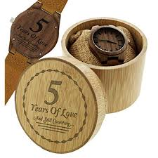 5th anniversary gifts 5 years of love and still counting husband gifts engraved wood watch gift