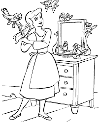 Small Picture Cinderella Coloring Pages Games Coloring Pages