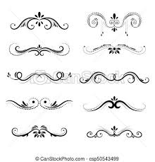 Decorative Borders And Frame Set Vignette Elements Isolated On
