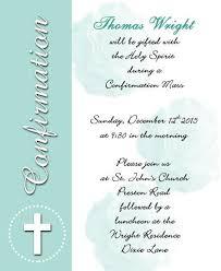 Confirmation Invites Templates Wedding Invite Word Template Catholic