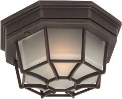 craftmade z390 07 bulkhead rust outdoor small overhead lighting fixture light sconce loading zoom