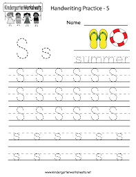 Alphabet Writing Practice Worksheets For Kindergarten   Coffemix My Favorite Place Writing Prompt Worksheet