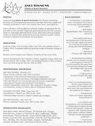Theater Resume Template New Technical Theatre Resume Template Theatre Resume Format The Best