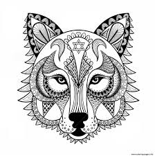 Wolf Color In And Wolf Face Coloring Page - creativemove.me