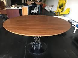 mid century modern isamu noguchi walnut cyclone dining table knoll for