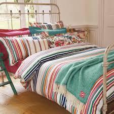 deckchair stripe bed linen by joules joules jade green