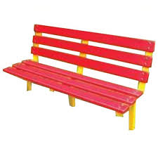 yellow and red frp garden benches