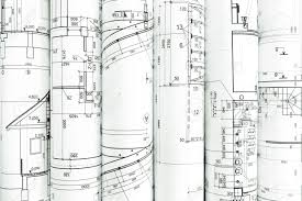 Architecture blueprints Factory Rolls Of Architecture Blueprints And Technical Drawings Architectural Background Stock Photo 41293392 Whatnerveinfo Rolls Of Architecture Blueprints And Technical Drawings